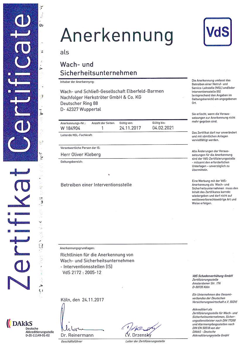 VdS 2172 : 2005-12
