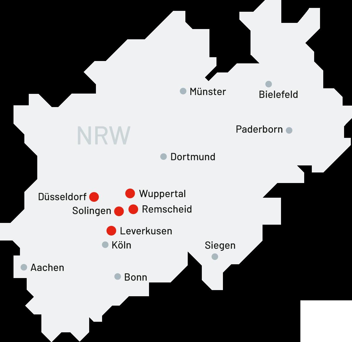 WSG Wuppertal | Standortkarte